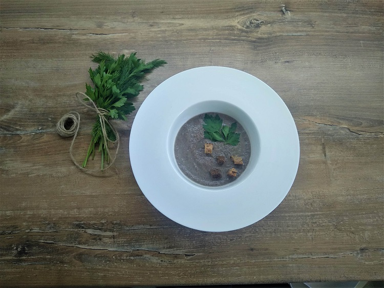 Рецепт грибного крем-супа по Дюкану